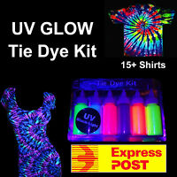 "UV NEON GLOW Tie Dye Kit ""EXPRESS POST"" Tye Dye Up 20+ Shirts UV Tulip Tie Dye"