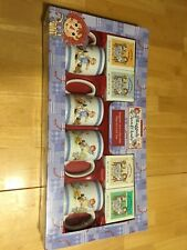 Raggedy Ann & Andy Collectible Mugs Set With Tea 4 Cups And 4 Tea Boxes. NIB