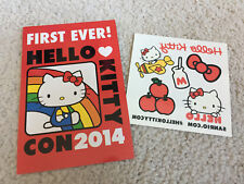 Hello Kitty Temporary Tattoos & 2014 Con Flyer Sdcc San Diego Comic Con