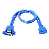 20 pin to usb 3.0 motherboard to 2port external conversion cable