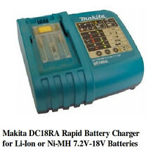 NEW Makita DC18RA Rapid Battery Charger for Li-Ion or Ni-MH  7.2V-18V Batteries
