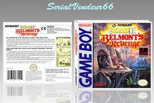 """Boitier du jeu """"CASTLEVANIA 2"""", Game Boy. Nintendo. PAL FR. HD. SANS LE JEU."""