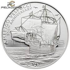 Cook Islands  2012 5$ Amerigo Vespucci Silver Coin Proof