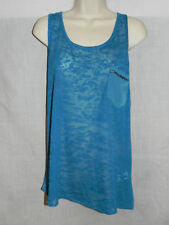 Kenzie Blue Blouse Small Womens Sleeveless NWT $48