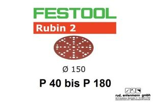 Festool Schleifscheiben Schleifpapier Rubin für Rotex RO 150mm P 40 bis P 180