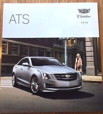 2018 Cadillac ATS Coupe and Sedan 44-page New Sales Brochure Catalog