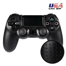 Black Spot Pattern Convex Point Silicone Case Cover Gel Grip for PS4 Controller