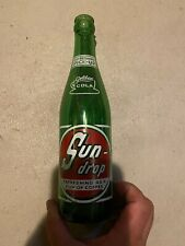 Vintage SUN-DROP gold-en COLA Green Bottle 12oz Toledo Ohio