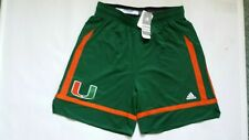 Miami Hurricanes Adidas Basketball Shorts NEW Size L