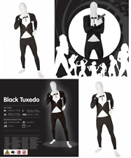 Tuxedo Morphsuit Fancy Dress Costume - Size Large - 5 and rdquo;5-5 and rdquo;9