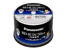50pcs Panasonic Bluray BD-R DL 50GB 4x Dual Layer Inkjet Printable Discs F/S NEW