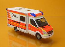 Herpa 093675 Mercedes Benz SPRINTER Fahrtec RTW Rettungsdienst Dülmen 1 87
