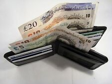 Luxury Soft Cow Leather Wallet with three Separate Money Sections and Cards Slot