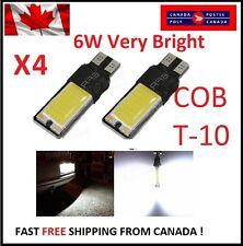 4PCS T10 W5W 194 168 6W LED No Error COB Canbus Side Lamp Wedge Light White DRL