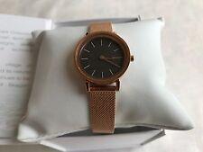 New Auth Skagen SKW2470 Women's Hald Rose Gold Tone Stainles-Steel Quartz Watch