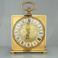 Massive Vintage Imhof 8-Day Striking Gilt Swiss Clock