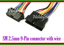 3SET JST-SM 2.5 9-Pin Male Female Housing Connector Adapter Color lead wire 30cm