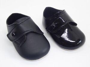 Baby Jungen BayPods weich leise Taufe, Hochzeit Schuhe in schwarz