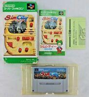 SIM CITY (JAP JAPAN) - Nintendo SUPER FAMICOM Sfc - complet sous boite CIB