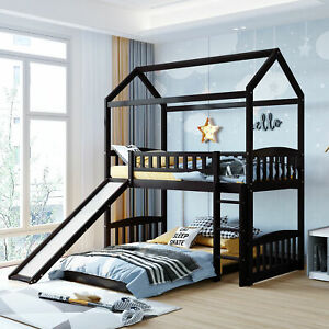 Twin Over Twin Bunk Bed with Slide House Bed with Slide Playhouse Design New