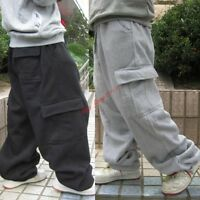 Hot Mens Casual Cargo Baggy Hip Hops Long Pants Trousers Athletic Sweatpants