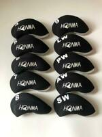10PCS Golf Iron Headcovers for Honma Club Head Covers 4-LW Black&Black Universal