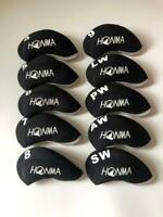 10PCS Golf Iron Headcovers for Honma Club Head Covers 4-LW Black&Black Universal