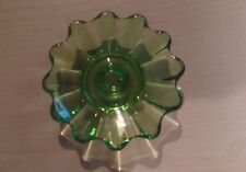 Collectible Solid Green Glass Decorative Candle Holder