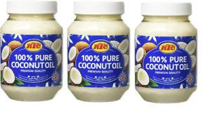 KTC 100% Pure Coconut Multipurpose Oil 500ml Jar pack of 3