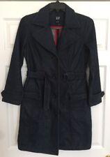 GAP Women's Denim Pea Coat Jacket With Belt, Size S