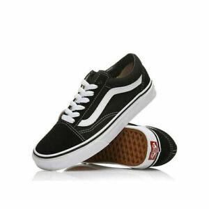 Herren DamenVans Old Skool Skate SchuheSchwarz Weiß Sneaker Herren Freizeitschuh