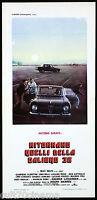 RITORNANO QUELLI DELLA CALIBRO 38 LOCANDINA FILM ALFA ROMEO POLIZIA 1977 AFFICHE