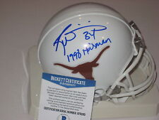 RICKY WILLIAMS Signed TEXAS Longhorns Mini-helmet w/ Beckett COA & Inscript