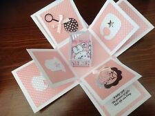 Baby Girl exploding Box card