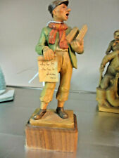 "Anri Vintage 1960's ""LATEST NEWS"" Man w/Newspaper #52220/33 Wood Carved 7"" KH"