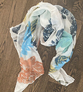 A New Day Scarf Wrap Multicolored Floral Spring Print Scarf Target GREAT PRINT!
