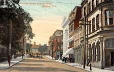 george street looking west halifax Nova Scotia canada L4517 antique postcard