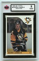 1985-86 Topps #9 Mario Lemieux RC Graded 8.0 NMM (G2020-043)