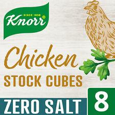 Knorr Chicken Stock Cubes Zero Salt 3 x 8 Pack