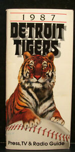 1987 Detroit Tigers Official Media Guide, 128 Pages! Just Like Erine used to use