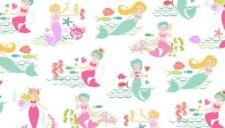 Mermaid Fabric 100% cotton Merryn Scenic mermaids Fat quarters  Makower 2001