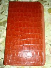 Old vintage  Air India Air Lines Co. Leather Pouch  from India 1970