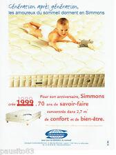 PUBLICITE ADVERTISING 036  1999  Simmons matelas