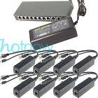 250M EXTEND PoE Kit for 8x Raspberry Pi B/B /2/3 Micro USB 5V 2.4A /Switch 8 PoE