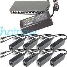250M EXTEND PoE Kit for 8x Raspberry Pi B/B+/2/3 Micro USB 5V 2.4A /Switch 8 PoE