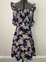 Auguste The Label Floral Dress With Ruffle Details Size 8 EUC