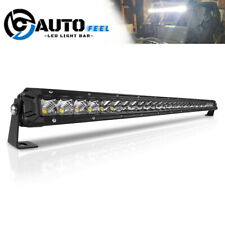 Ultra-thin 32 Inch 120W LED Light Bar Single Row Flood & Spot Beam Combo SUV 30""