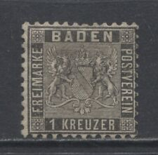 1862 German States  BADEN  1 Kreuzer issue  mint*,  $ 96.00