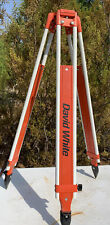 David White Model 9016 Tripod For Automatic Level Transit Very Good Condition