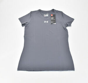 NEW Under Armour Girls Fitted V-Neck Athletic T-Shirt Youth Large MSRP $34.99